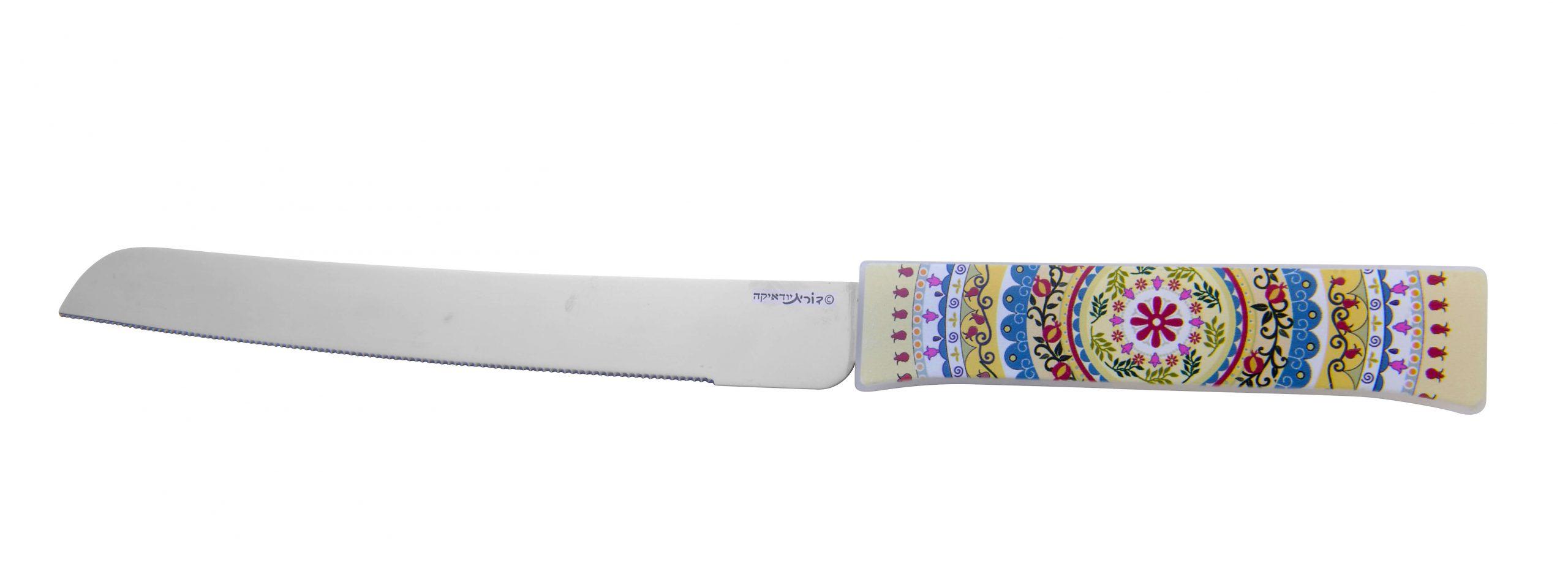 סכין חלה צבעוני