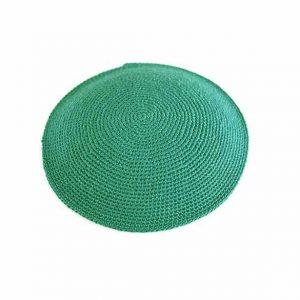 כיפה סרוגה עבודת יד - ירוק