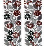פמוטים פרחים אדום אפור שחור