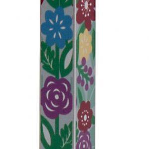 בית מזוזה אלומיניום הדפס צבעוני פרחים צבעוני