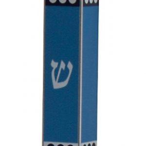 בית מזוזה אלומיניום הדפס צבעוני גווני כחול