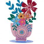 מרחפות צבעוניות - כד פרחים ברכות