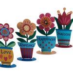 מרחפות צבעוניות - רביעיית פרחים