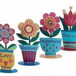 מרחפות צבעוניות - רביעיית פרחים אנגלית