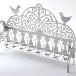 חנוכיה - רימונים וציפורים