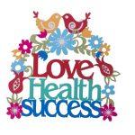 אותיות מרחפות-LOVE, HEALTH, SUCCESS